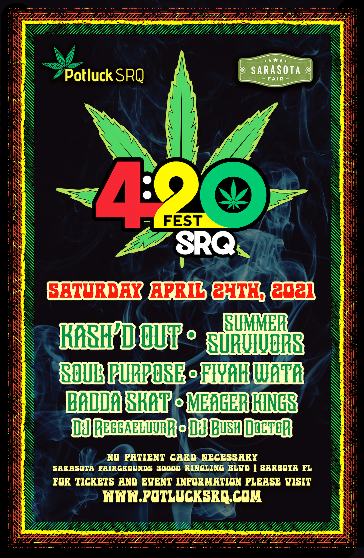 Poster for the 420FEST GRQ Event