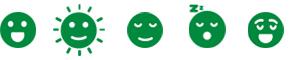 5 Green feelings emojis