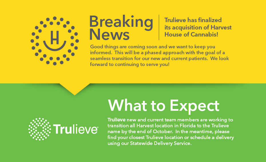 Trulieve Acquisition of Harvest House of Cannabis