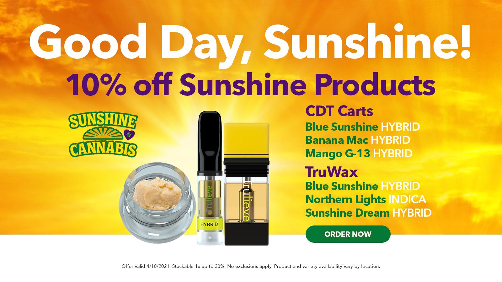 4/10 Sunshine Wax and Cart 10% off