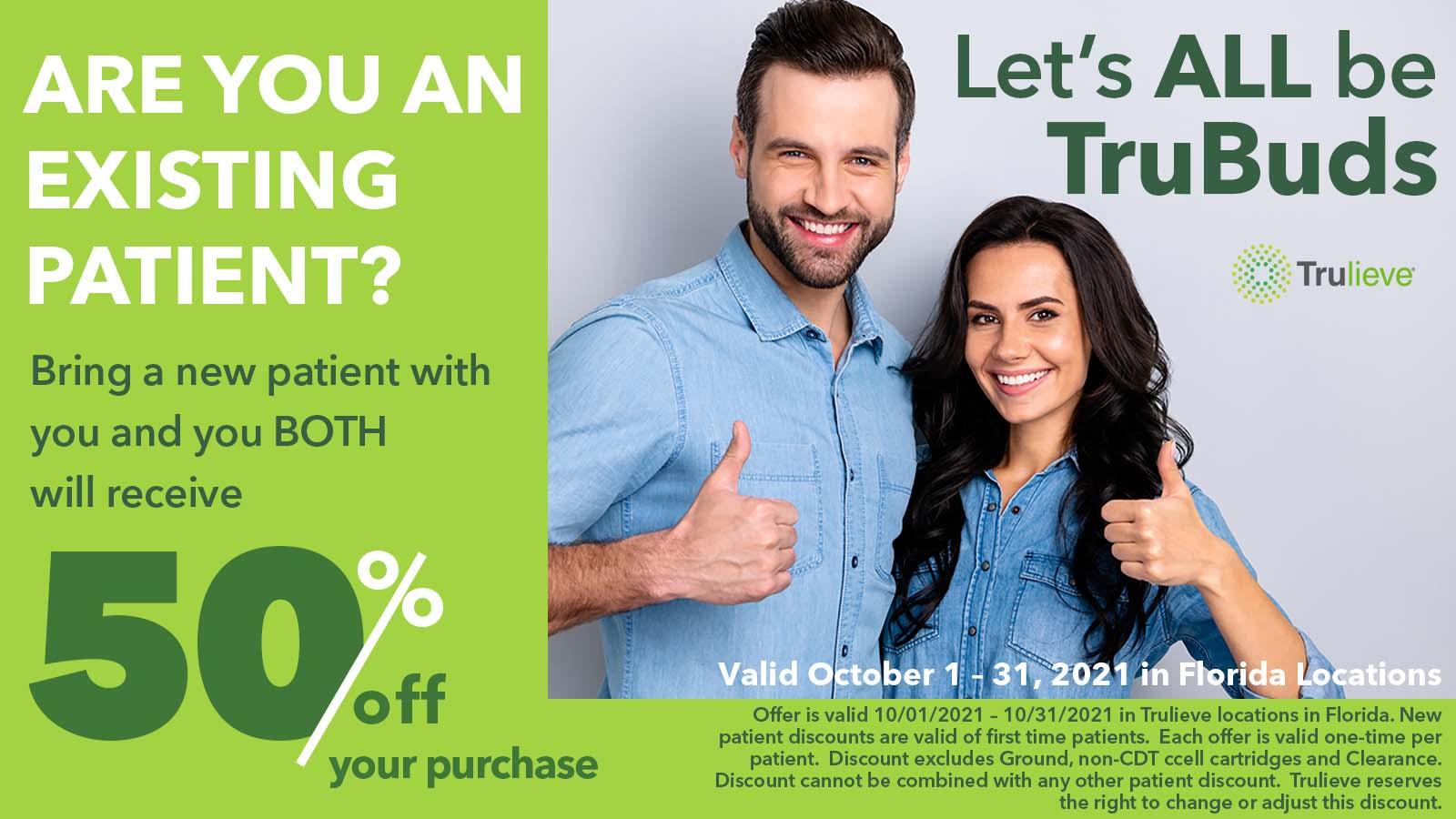 October bring new patient discount